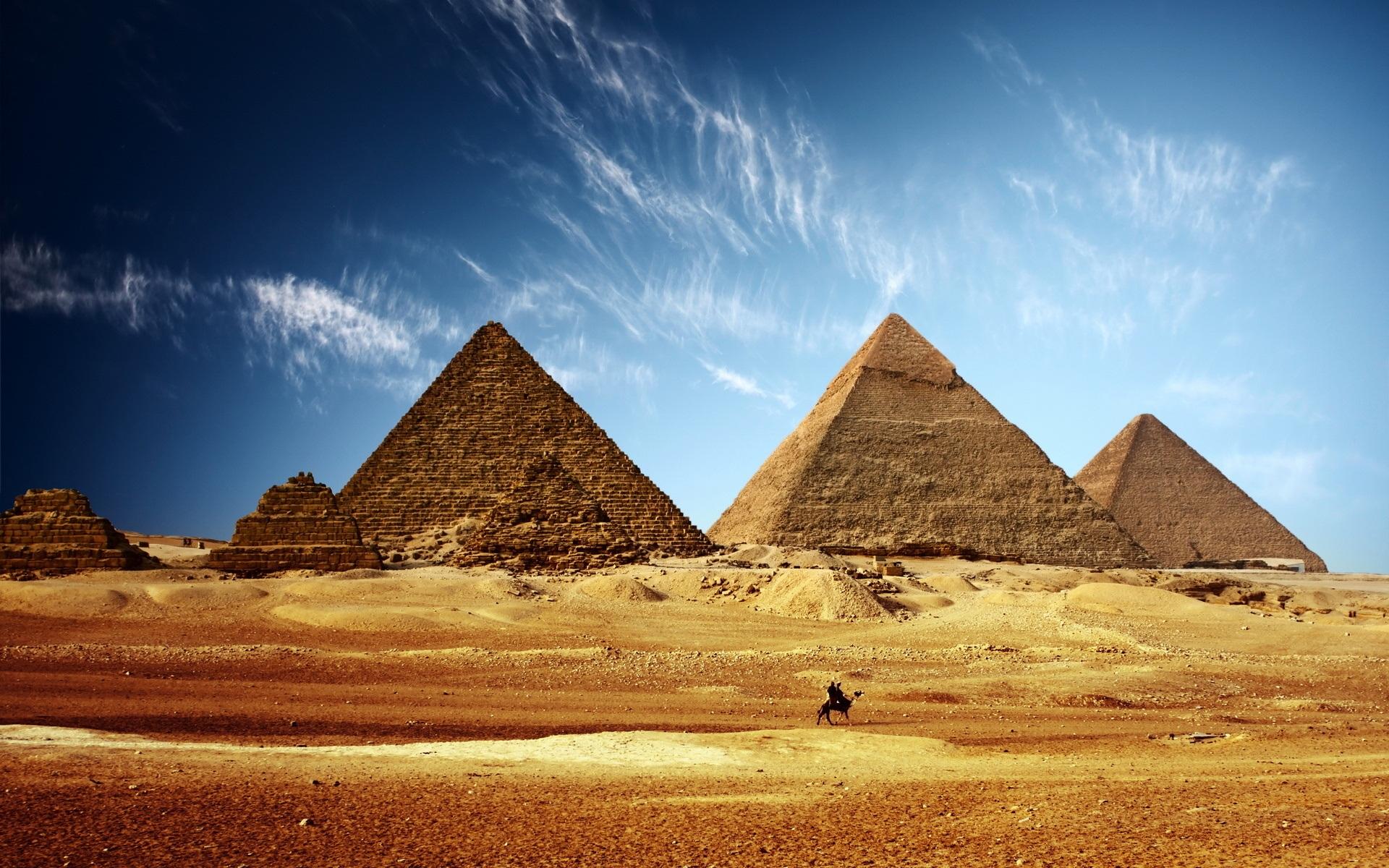 Пирамиды, Египет. Обои на рабочий стол. Разрешение 1920x1200